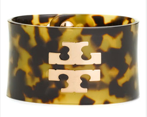 Tory Burch Wide Resin Cuff Bracelet
