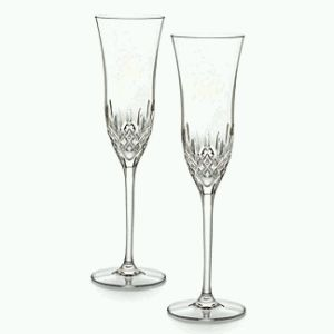 6. An elegant pair of toasting flutes. Waterford is best.