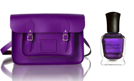 purple satchel