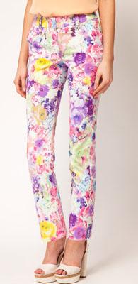 ASOS PETITE Exclusive Pants In Floral Print