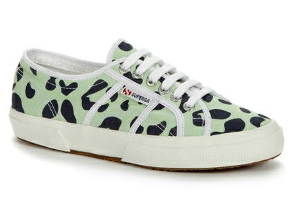 House of Holland x Superga Animal Print Mint/Navy