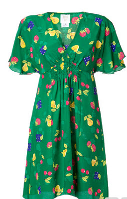 Anna Sui Amazon Fruit Print Dress