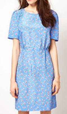 Boutique by Jaeger Saphia Frill Shoulder Cherry Print Dress