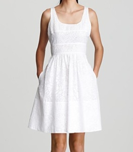 Calvin Klein Pintucked Sundress