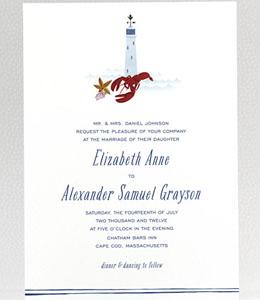 Cape Cod Wedding Invitation