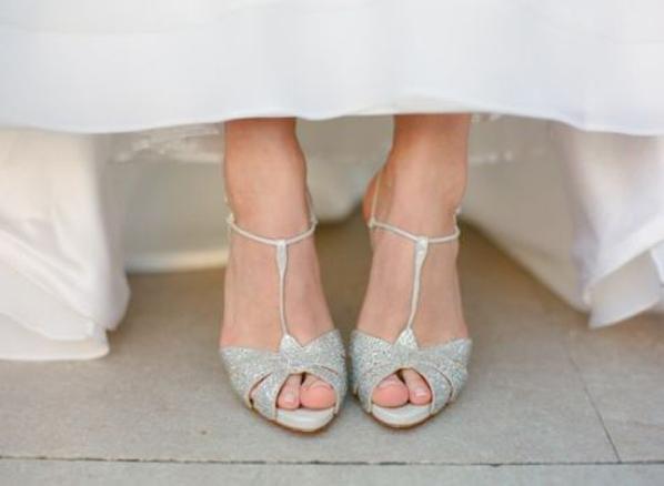 T-Strap Wedding Shoes