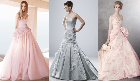 Colored Wedding Dresses | Pink Wedding Dresses | White Vera Wang Gowns