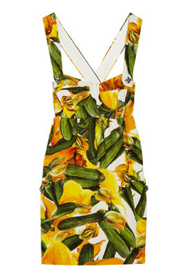 Dolce & Gabbana Printed Brocade Cotton Mini Dress