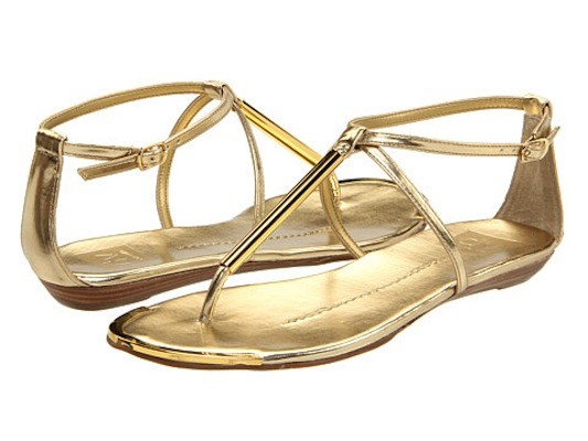 b8a502a9401e Dolce Vita Gold Flat Sandals ~ Gold Sandals