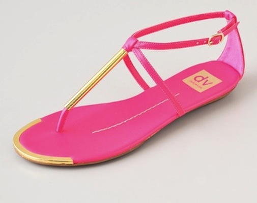 790849027ffae Dolce Vita DV Archer Flat Sandals in Hot Pink - SHEfinds