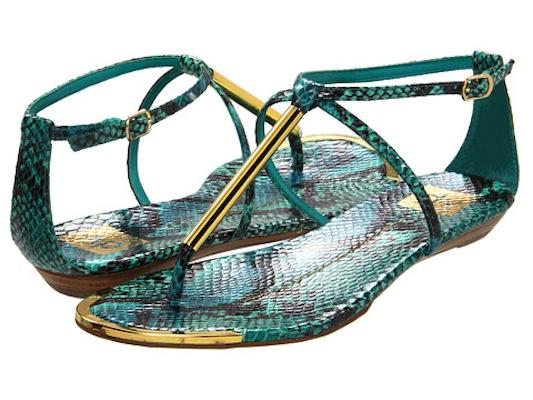 b3b011b61a333 Dolce Vita DV Archer Flat Sandals in Flame Snake