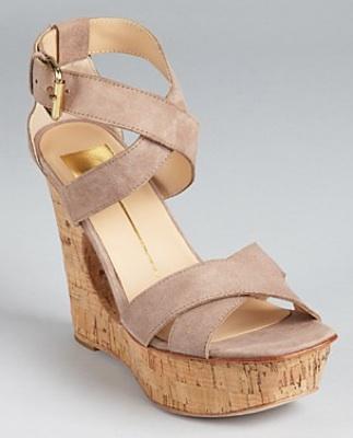 Dolce Vita Sandals Orla Cut Out Cork Wedges