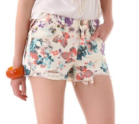 ef3fce1b2a Free People Floral Cutoff Shorts $68, Shopbop