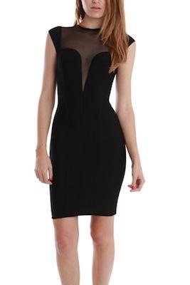 Herve Leroux Tul Mesh Sleeveless Dress