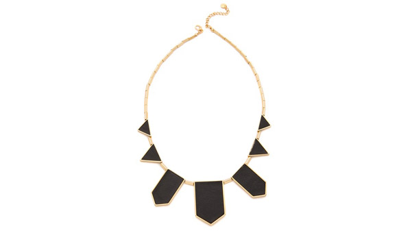 House of Harlow 1960  Station Leather Necklace