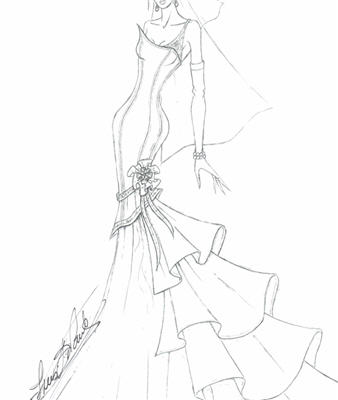 Miley Cyrus Wedding Dress | Miley Cyrus Wedding Dress Sketch