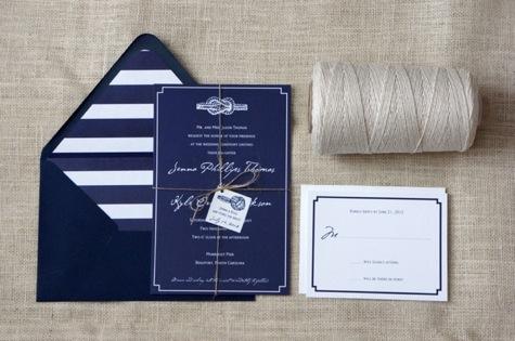 Nautical Wedding Invitations Blue Wedding Invitations Striped