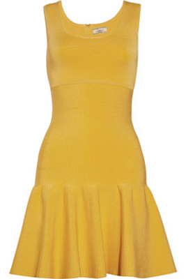 Issa Flared Ribbed Knitted Tank Dress