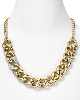 Juicy Couture Luxe Rocks Crystal Link Necklace