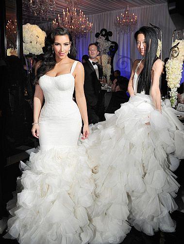reception  Kim Kardashian Kim Kardashian Wedding Reception Hair