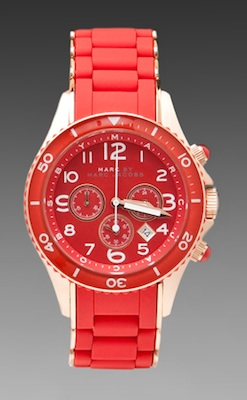 Marc by Marc Jacobs Rock Watch in Shock Red:Rose Gold