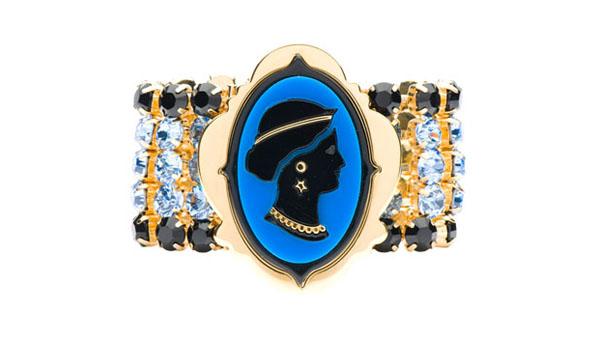 Miu Miu Cameo Bracelet Blue