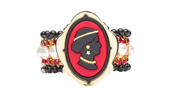 Miu Miu Cameo Bracelet Red