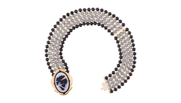 Miu Miu Cameo Necklace Black