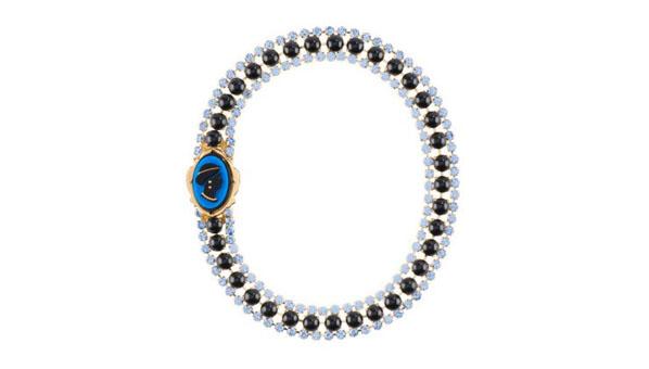 Miu Miu Cameo Necklace Blue
