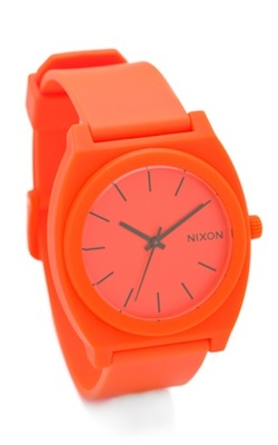 Nixon Time Teller P Watch in Neon Orange
