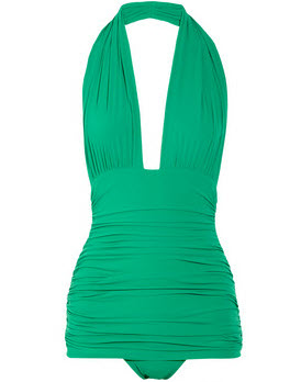 3. Ruched retro one piece