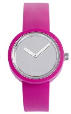O'Clock Analogue Mirror Silicone Purple Watch