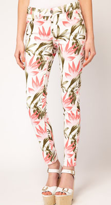 Oasis Tropical Print Jeans