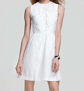 RAOUL Pleated Poplin Dress