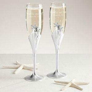 Starfish Champagne Flutes
