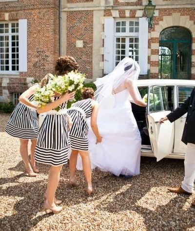 Striped bridesmaid dresses summer wedding dresses for Striped bridesmaid dresses wedding