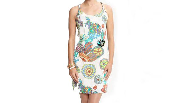 Trina Turk Crazy Botanical twist-strap dress