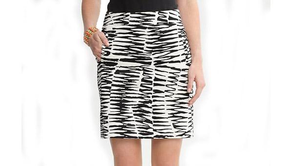 Trina Turk Zazzy Zebra sateen skirt