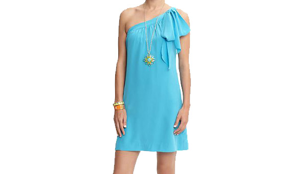 Trina Turk silk one-shoulder dress