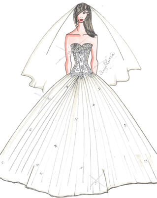 Ball Gowns Sketches