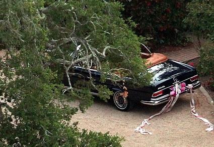 The getaway Benz!