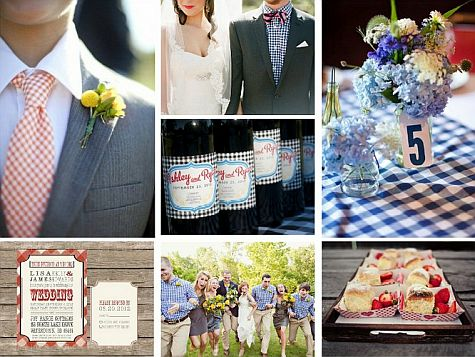 Gingham wedding invitations gingham summer wedding ideas for Gingham decorating ideas
