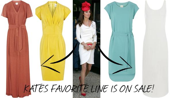 Kate middleton white reiss dress sale