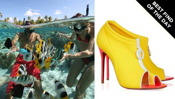 christian louboutin snorkeling 100 peep-toe booties w tags
