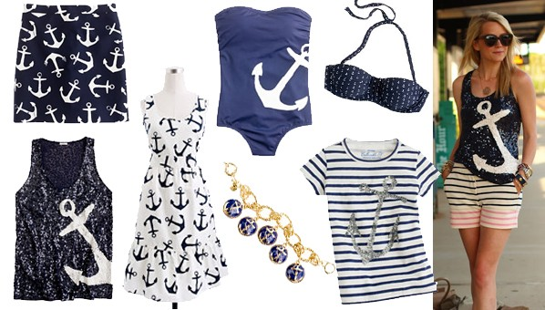 Anchor Print Clothing | Nautical Clothing | J Crew Anchors Collection