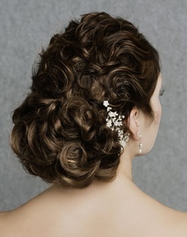 Curls with chignon