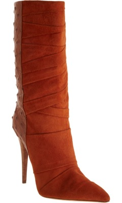 Ostrich Pleated Boot