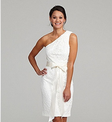 Betsy & Adam One-Shoulder Dress