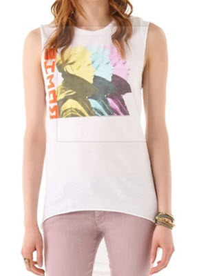 Chaser David Bowie Hi Lo Muscle tee