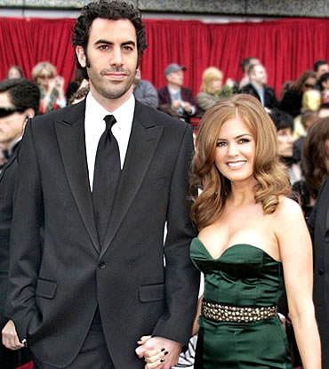 Sasha Baron Cohen and Isla Fisher